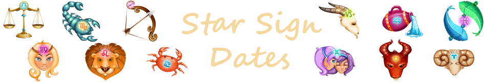 Star Sign Dates Header
